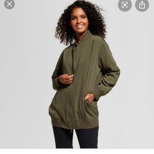 Who What Wear oversized bomber jacket